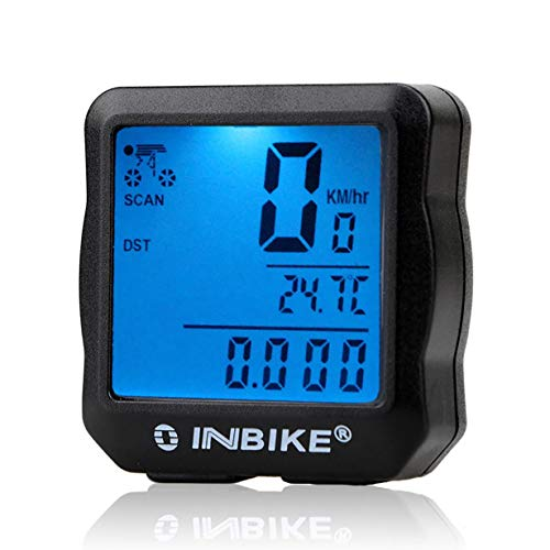 Uniqueheart Wired Bicycle Odometer Waterproof Backlight LCD Digital Cycling Bike Computer Speedometer Suit for Most Bikes