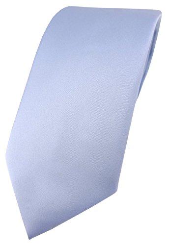 TigerTie Designer Krawatte in hellblau einfarbig Uni - Tie Schlips