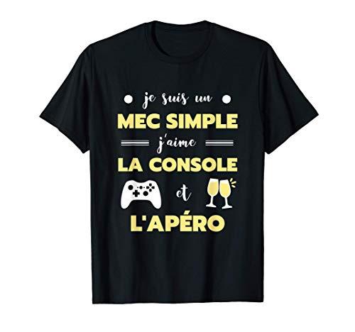 Homme Mec simple console humour gamer homme jeux video drole...