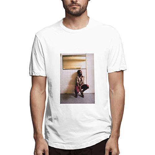 Genertic Lauryn Hill T-Shirt Uomo Moda Casual Sport Cotone Manica Corta T-shirt Top bianco XXXXXL