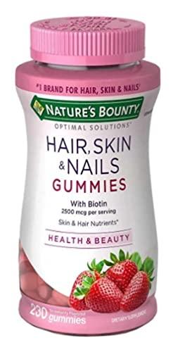 Hair, Skin e nails - 230 Gummies - sabor morango - Para cabelo, pele e unha