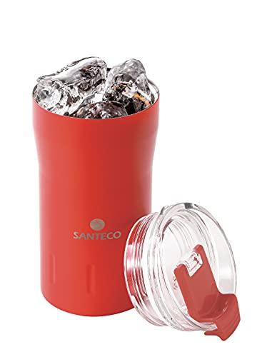 シービージャパン タンブラー ふた付き 真空断熱 サンセット オレンジ 310ml ロック式飲み口 KARIBAタンブラー SANTECO