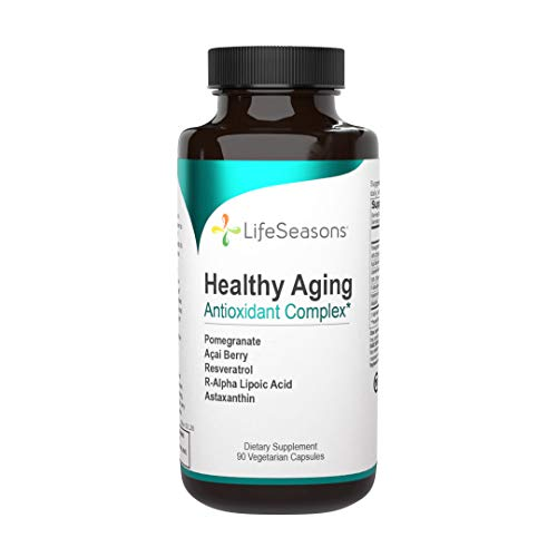 LifeSeasons - Healthy Aging - Anti Aging Supplement - Antioxidant Complex - Acai Berry, Astaxanthin, Resveratrol, R-Alpha Lipoic Acid and Pomegranate Extract - 90 Capsules