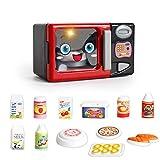 JEJA Pretend Kinderküche Spielset - Elektrischer Mikrowellenherd w / Play Food Cooking Set Batteriebetriebene Sounds & Lights Geschenk für Jungen Mädchen