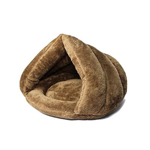 Portátil Cama para mascotas para gatos Perros Soft Nest Kennel Cama Casa Casa Casa Bolsa de dormir Mat Pad Pad Tent Mascotas Invierno Cálidas Cómodas Cojas para conejo, ardilla, gatito, cachorro