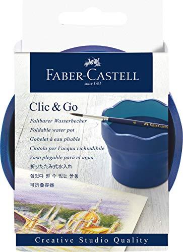 Faber-Castell 181540 Creative Studio Wasserbecher Clic & Go, blau
