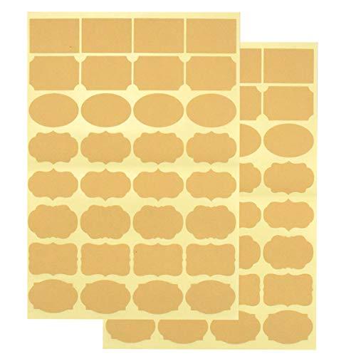 Etiquetas Adhesivas Kraft Pequeñas Marca Kissral