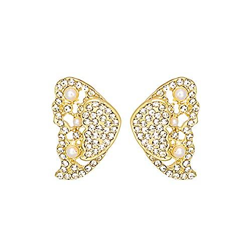 Pendientes de perlas de mariposa para mujeres y niñas, hipoalergénicos, para adolescentes, joyas, regalos para madres y novias