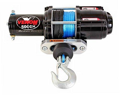 VENOM Winch 5000LB ATV Winch With Model Specifc Mount Fits 2016-21 HONDA PIONEER 1000 & 1000-5 RT