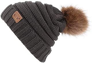 iYBUIA Winter Men Women Baggy Warm Crochet Wool Knit Ski Beanie Skull Slouchy Caps Hat