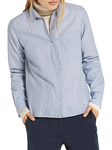 Marc O'Polo Damen Shirts/Blouses Long Sleeve Bluse, blau, DE 34
