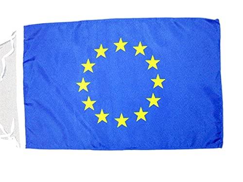 AZ FLAG Bandiera Europa 45x30cm - BANDIERINA Unione Europea – UE 30 x 45 cm cordicelle