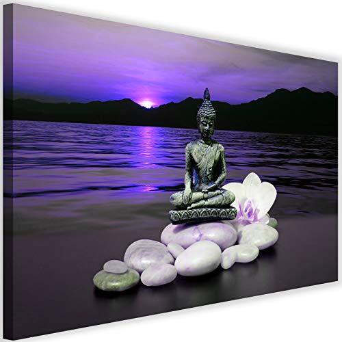 Cuadro en Lienzo Buda 60x40 cm Impresion en Calidad fotografica mar violeta