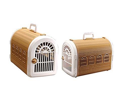 Aida Bz Pet boîte d'air Pet Panier Pet Valise Cage Pet Fournitures Chats et Les Chiens Hors de la boîte à air Portable,Brown