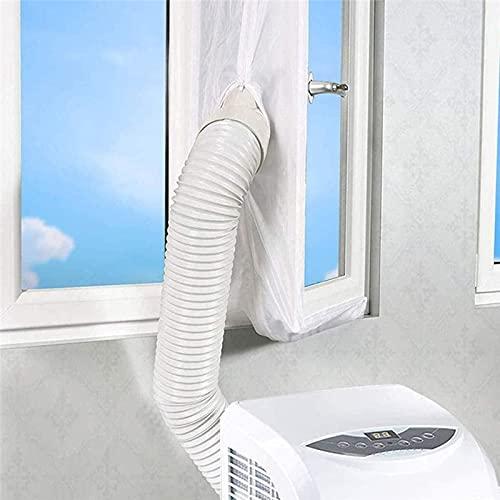 ASQZX 3 4 5 m Kit per finestre di condizionamento Inserto per la casa Mini Mobile Condizionatore d'Aria Mobile Guarnizione Adattatore Protezione (Color : White, Specification : 4m)