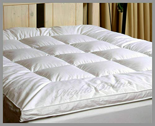 "NIGHTS 2 inch Duck Feather & Down Mattress Topper Matress Cover In 5cm (King: 150cm x 200cm + 2"" Thickness)"