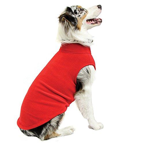 Gooby - Stretch Fleece Vest, fleece vest, sweater voor dogs, 5X-Large Length (24.5