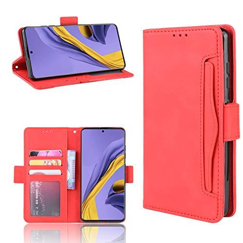 Snow Color Galaxy S20+ (S20Plus) Hülle, Premium Leder Tasche Flip Wallet Case [Standfunktion] [Kartenfächern] PU-Leder Schutzhülle Brieftasche Handyhülle für Samsung Galaxy S20 Plus - COBYU020324 Rot