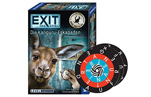Collectix Kosmos 695071 EXIT - Das Spiel: Die Känguru Eskapaden (Level: Fortgeschrittene) + 1x Word-A-Round Minispiel
