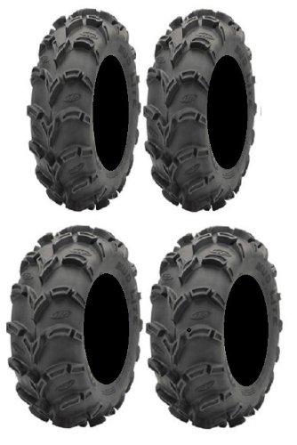 Full set of ITP Mud Lite XL 25x8-12 and 25x10-12 ATV Tires (4)