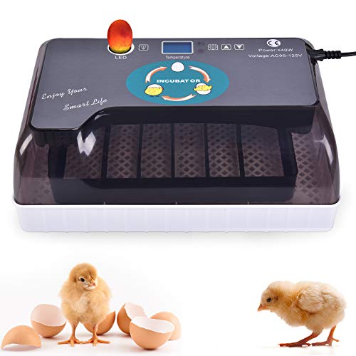 wuyule Egg Incubator 9-35 Eggs Digital Incubators for Hatching Eggs with Fully Automatic Turner and Humidity Control LED Candler, Mini Egg Incubator Breeder for Chicken, Ducks, Birds & More
