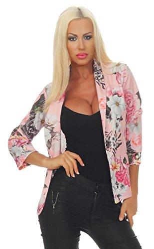 OSAB-Fashion 11566 Dames blazer jas korte jas jas jas jas bloemen 3/4-mouwen