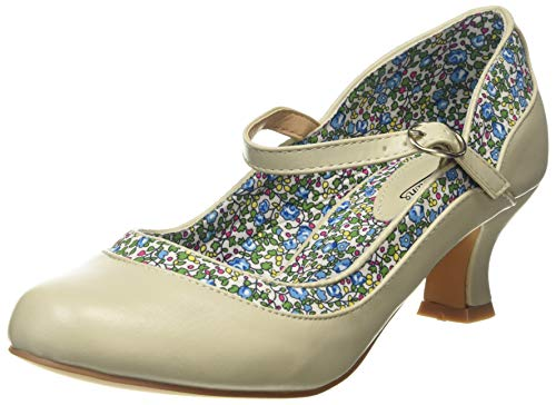 Joe Browns Damen Dainty and Delightful Shoes Mary Jane Schuh, Stone Multi, 38 EU