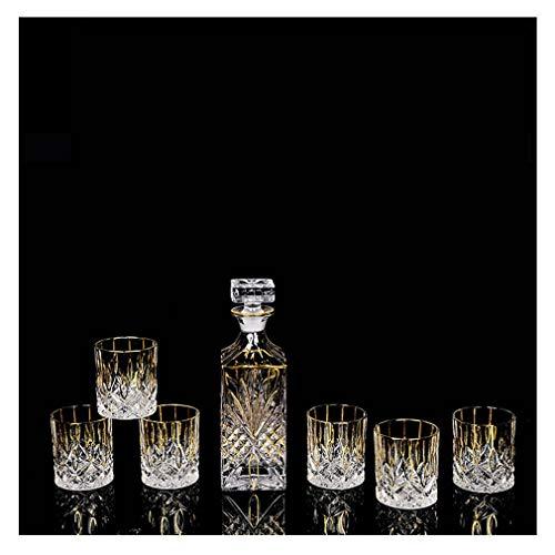 Handgemaakte Glazen Decanter Whiskey Bril met Ornate Cap en prachtige Cocktail Bril voor Home Party Bar L