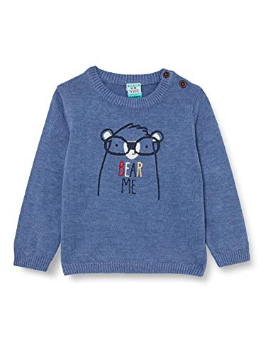 Top Top JAREDENI Suéter, Azul, 3-6 Unisex bebé