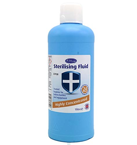 Dr Johnsons Baby 1 X bottiglie di liquido sterilizzante altamente concentrato, 1 litro