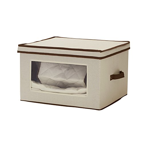Household Essentials 547 Serving Piece Vision China Storage Box, Natural