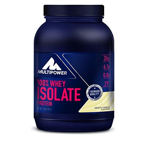 Multipower 100% Pure Isolate Protein - Proteine del Siero del Latte Isolate - Proteina del siero di latte nativa, non denaturata, ultrafiltrataPer lo sviluppo Muscolare - 725 g - Gusto Vaniglia