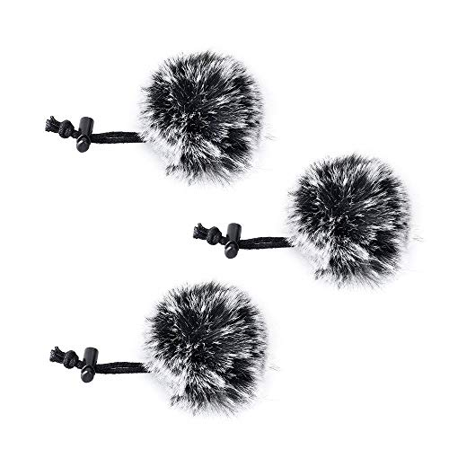 COMICA CVM-MF1 (G) Außenmikrofon Windschirm Wind Muff (Deadcat) für alle kleinen Compact Clip auf Lavalier Lavalier Mikrofone (3 Stück)