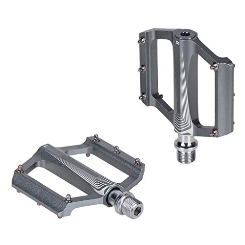 1 paire de pédales de vélo ultra-légers en alliage d'aluminium de roulement de pédale pour VTT vélo de route pliable vélo de vélo de vélo Accessoires utilitaire à utiliser