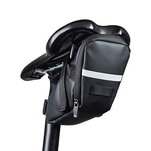 ZBQLKM Bicicleta Asiento Silla de Montar Bolsa de Almacenamiento Correa en la Bolsa de Montar Bicicleta Bolsa de Almacenamiento de cuña de Ciclismo con Raya Reflectante, Herramientas de reparación de