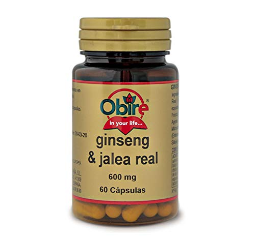Obire Ginseng & Jalea Real 600 mg - 60 Capsulas