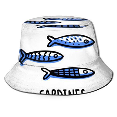 ZAlay Chapeau Bucket Portugal-Repères-Set-Traditionnel-Portugais-Sardines