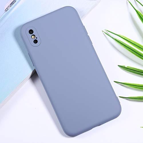 BAIYUNLONG Funda Protectora, Funda Protectora del teléfono con cámara de Silicona for el iPhone XR precisión Agujero (Color : Baby Blue)