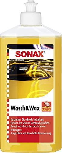 SONAX Wasch & Wax (500 ml) gründliche Schmutzentfernung und dauerhafter Schutzfilm aus natürlichem Carnauba-Wachs | Art-Nr. 03132000