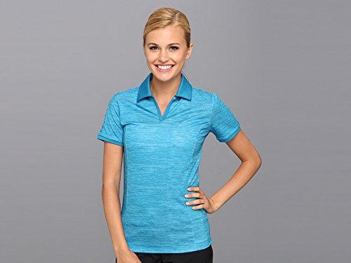 adidas pour Femme écran Puremotion plissé Polo à Manches, Femme, Bleu Sarcelle