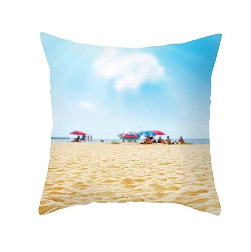 Funda de Almohada Funda de Almohada Funda de sofá decoración de la Cama del hogar 45x45 cm decoración de Lino de algodón