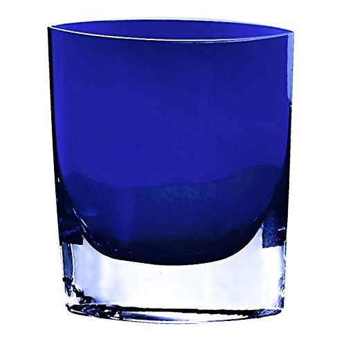 Badash–Samantha europäischen Mundgeblasenes Glas 20,3cm Vase Kobaltblau