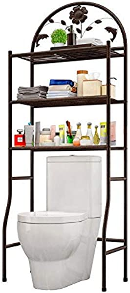 Bathroom Storage Rack Bathroom Multi Layer Three Story Storage Large Capacity Sorting Organizer Can Be Placed In The Toilet Or Washing Machine Above The Ultra Storage Storage Rack Bronze