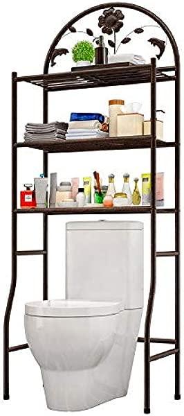 浴室收纳架卫生间多层三层收纳大容量整理架可放卫生间或洗衣机上方超收纳储物架古铜色