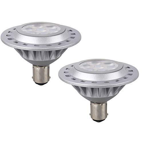 LED Ar70 Ba15d Proyector 7w Ac Dc 12v Base 3000k Blanco CáLido Reflector De Luz HalóGeno 60w Bombillas De Repuesto Interior Exterior Oficina En El Hogar Tracklight 38 ° Haz,12V 3000K,2 Paquetes