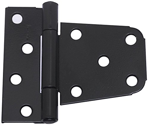 National Hardware N220-129 V287 Extra Heavy Gate Hinges in Black, 2 pack