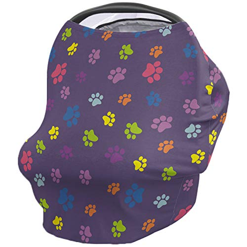 Lowest Price! Animal Nursing Cover for Baby Breastfeeding, Soft Breathable Stretchy Carseat Canopy, ...