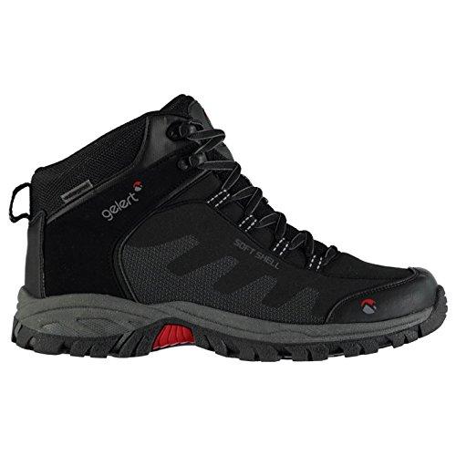 walking boots Gelert Mens Softshell Mid Walking Boots Lace Up Waterproof