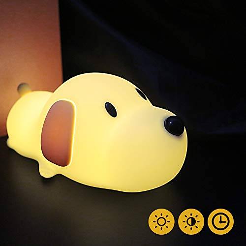LED Nachtlicht Kinder Baby Nachtlampe mit Touch Schalter Tragbare Silikon Nachtlichter für Babyzimmer, Schlafzimmer, Wohnräume, Camping, Picknick Warmes weißes licht