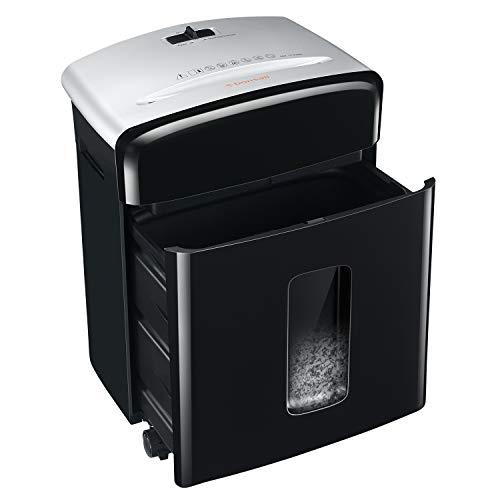 Bonsaii 10-Blatt P-4 Hochsicherheits-Aktenvernichter mit Partikelschnitt und abnehmbaren Universalrädern, Kreditkarten-Aktenvernichter mit 13-Liter-Ausziehkorb für den Büro- und Heimgebrauch (C220-B)